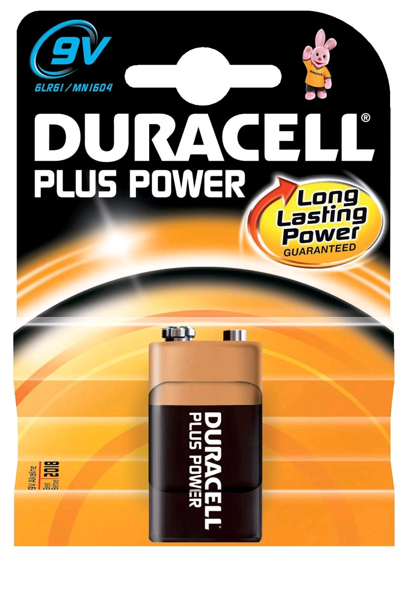 Duracell S3565 Battery 9Volt Alkaline Plus