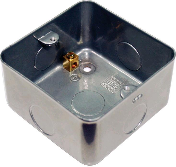 BG Metal Clad 1gang Back Box