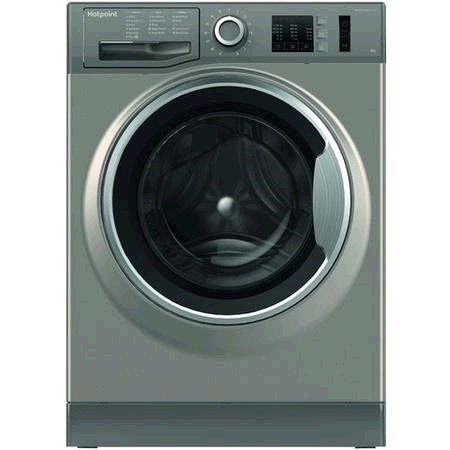 Hotpoint NM10944GS Washing Machine 9KG 1400 Spin A+++ Steam Pack Rapid  Stop and Add Graphite