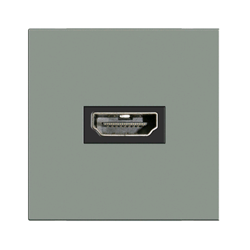 BG HDMI Outlet Top Facing Rear Connection Grey