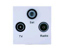 BG Euro Module 1 x Sat FM TV 2 Unit Grey