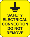 Industrial Signs Safety Electrical Connection Small (Pack 10)