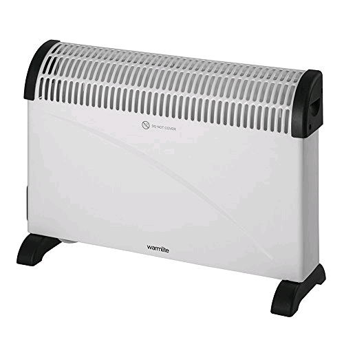 Warmlite WL41006 Freestanding 3kw Convector Heater with Turbo Fan and Timer  2 Heat Settings 1500/3000W