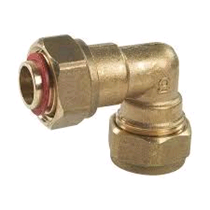 "Copper Bent Tap Connector 15mm x 1/2"" Compression"