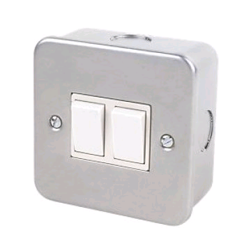 Niglon Metal Clad 2gang 2way Switch