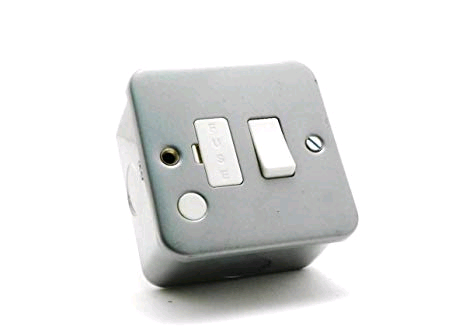 Niglon Metal Clad 13A Switch Fused Spur & Flex Outlet