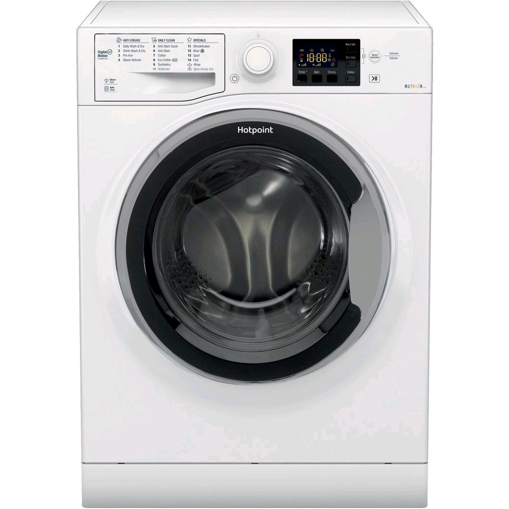 Hotpoint Washer Dryer 8Kg 1400 Spin Wash 6Kg Dry WHITE A Rated
