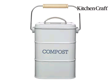 Kitchen Craft Compost Pail Grey LNCOMPCRE 3 litre