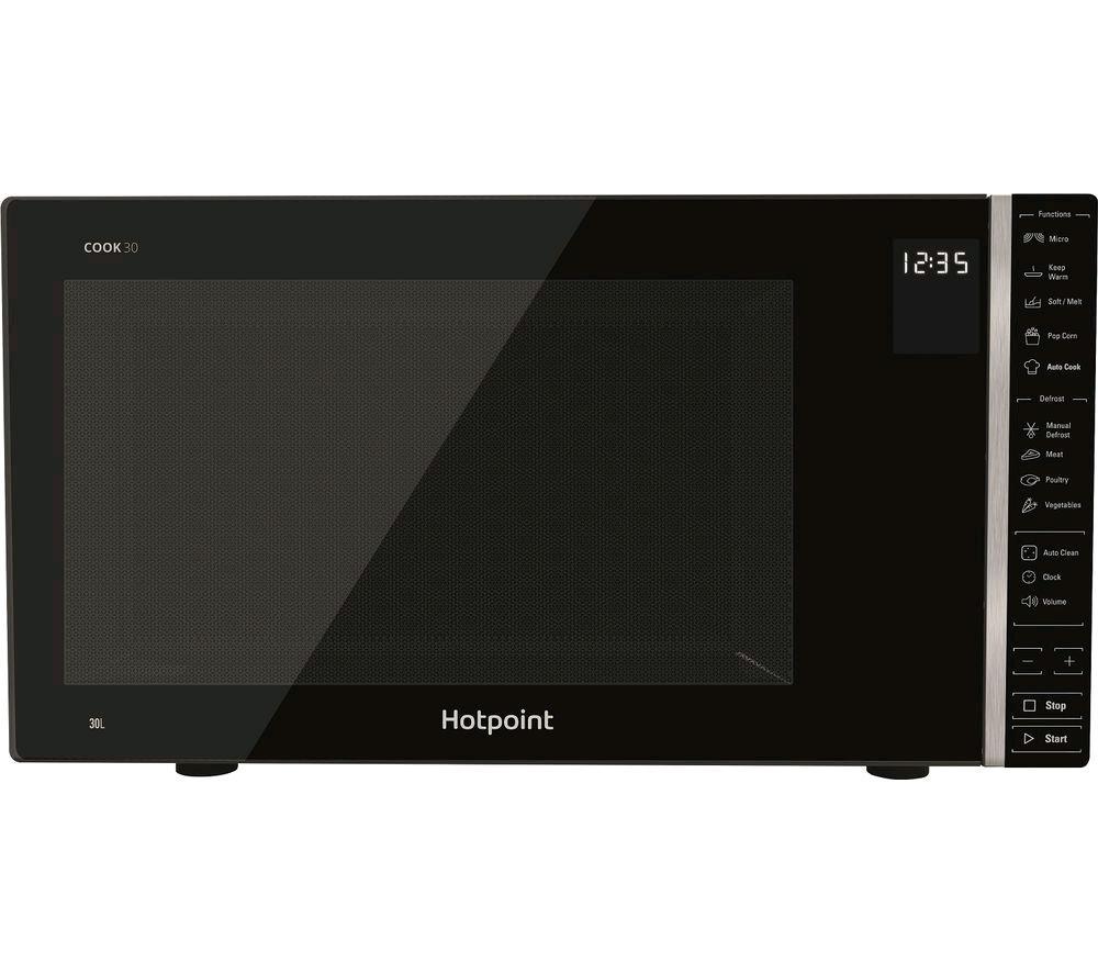 Hotpoint MWH303B Cook 30L Microwave + Grill 1050Watt  Black