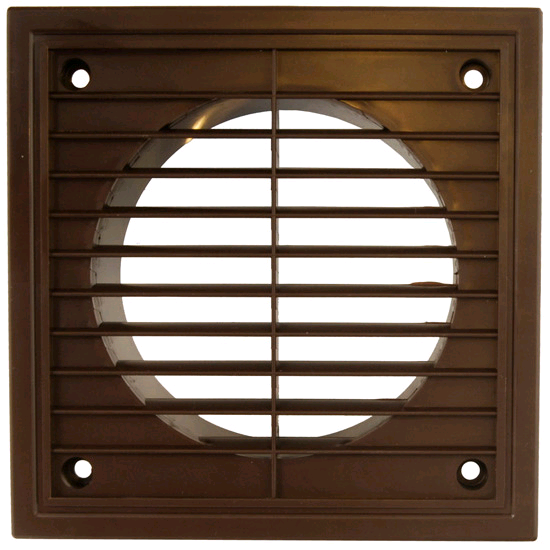 "Manrose Fixed Grill 4"" 100mm Brown"