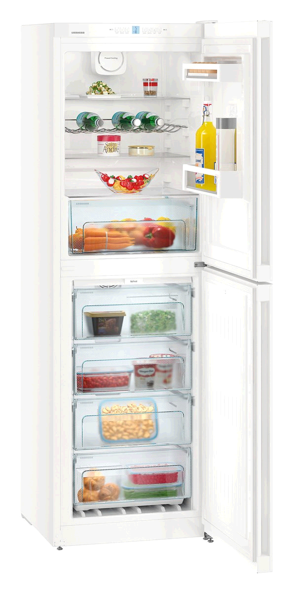 Liebherr No Frost Fridge Freezer 4 drawer 165/129L/6+4.5Cuft H 1861 W600 D 657 WHITE