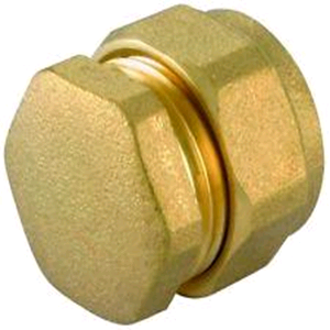 Copper End Cap (Stop End) 15mm Compression