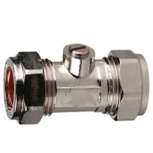 Copper Isolating Valve 15mm (Chrome)