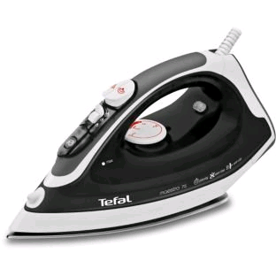 Tefal Ceramic Soleplate Steam Iron Black/White 2300w