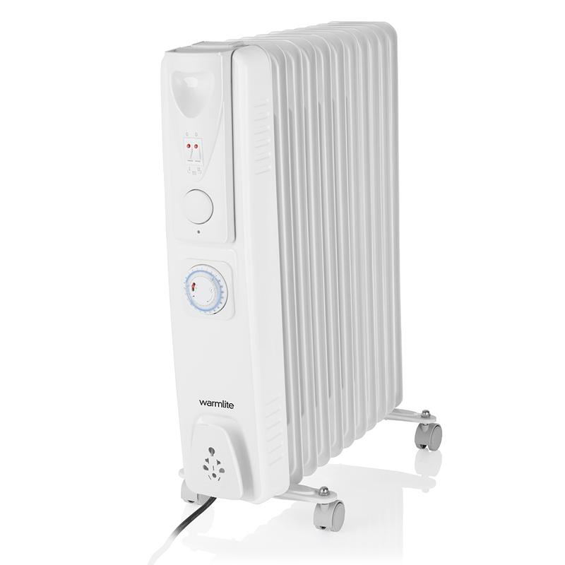 Warmlite Oil Filled Radiator 2500w with timer