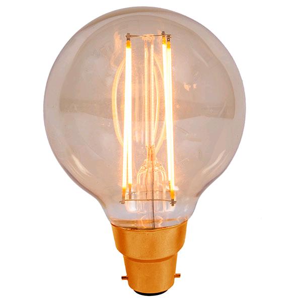 Bell Vintage 4w BC LED Globe 80 Amber 2000K