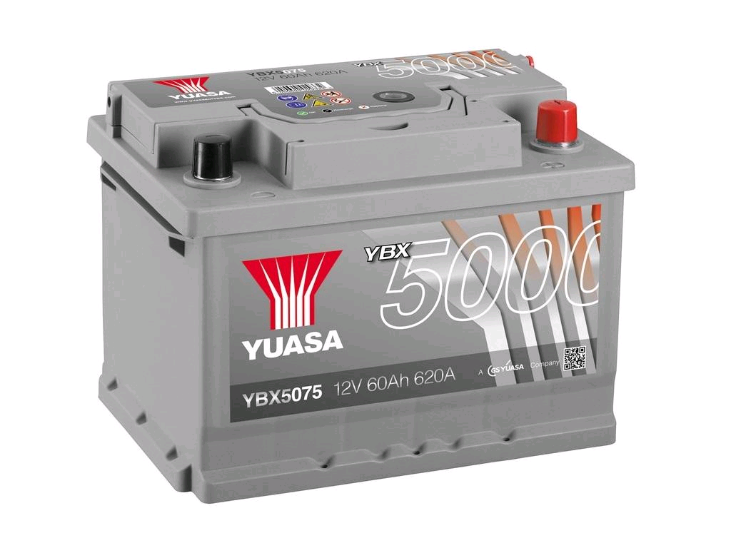 Yuasa 12V 60Ah 620A Silver High Performance Battery