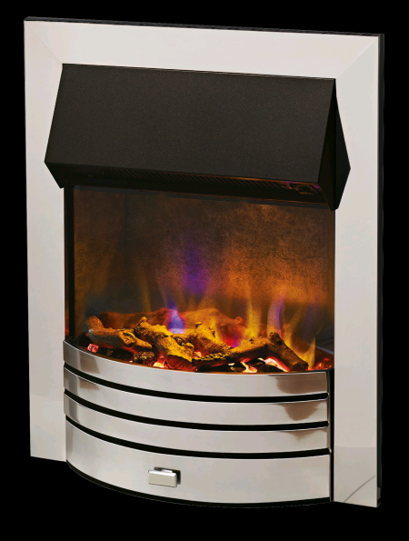 Dimplex Torridon Chrome Optiflame 3D effect Inset Fire Multi coloured 2Kw with 2 heat settings Remote control