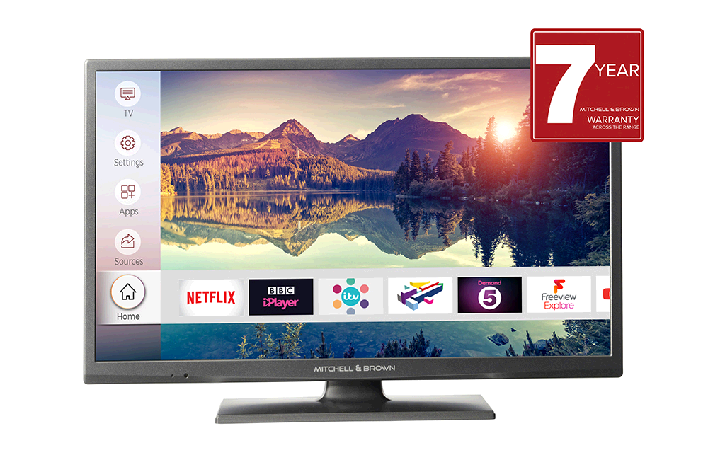 """Mitchell & Brown 39"""" LED Full HD TV, T2 Tuner SMART, Freeview Play, WARRANTY MUST BE REGISTERED"""