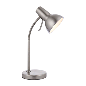 Saxby Amalfi Task Table Lamp Satin Nickel