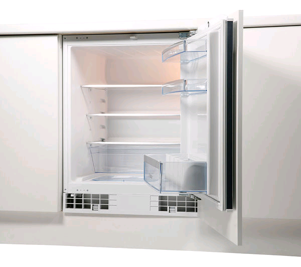 Bosch KUR15A50GB Series 6 Integrated Under Counter Larder Fridge with Fixed Door Fixing Kit - A+ Rated Built under