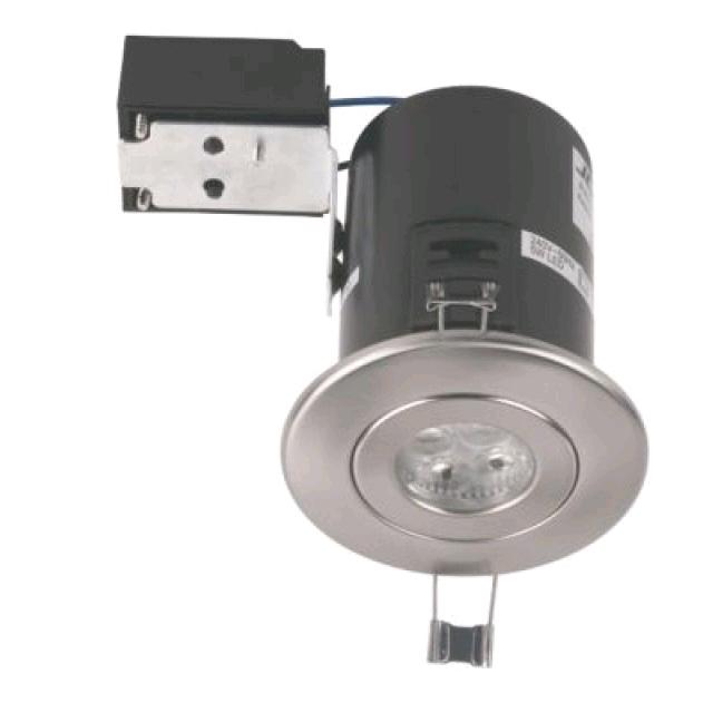 JCC Fireguard Plus IP20 LED 5W Downlight Brushed Nickel