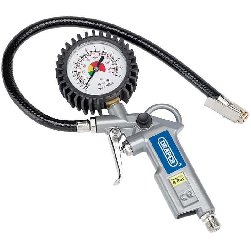 Draper Air Tyre Inflator (Dial Gauge)