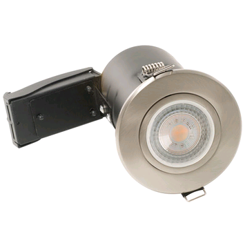 BG 12v Tilt Downlight Fire Rated Satin Nickel