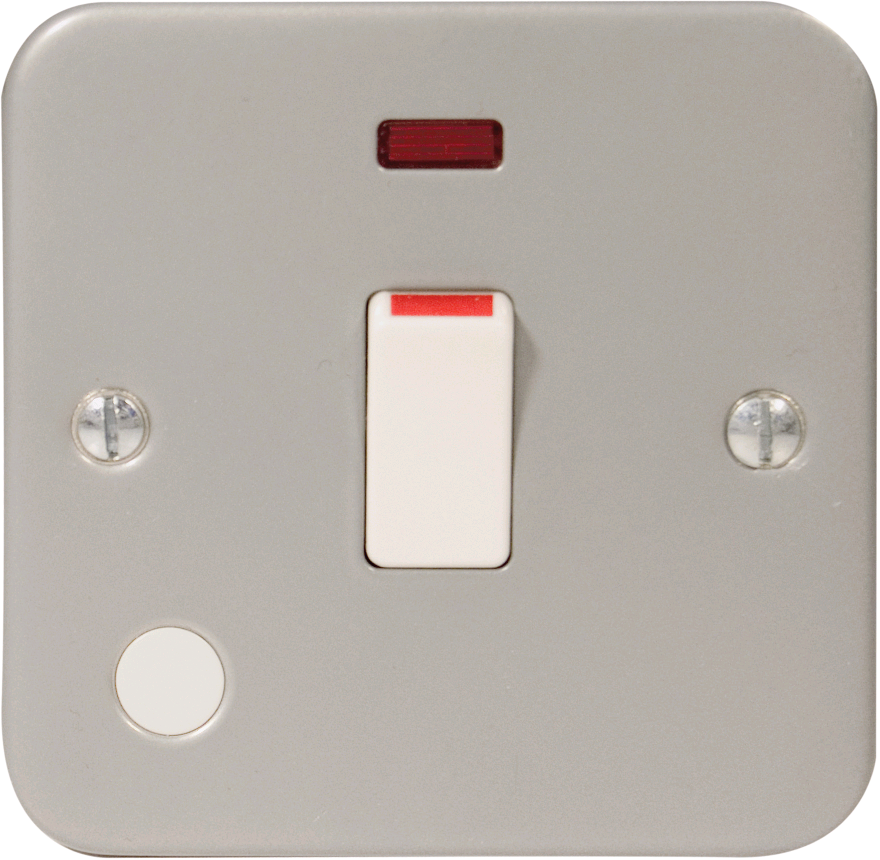 BG Metal Clad 20a DP & Neon Switch c/w Flex Outlet