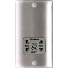 BG Nexus Shaver Socket Brushed Steel Grey Insert