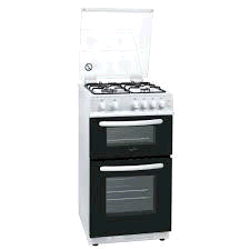 STATESMAN GTL50W Twin Cavity White Gas Cooker 50cm Glass Lid