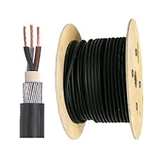 SWA Cable 50mm Armoured PVC 3core (per mtr)