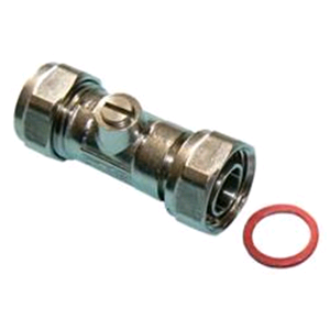 Chrome Straight Service Valve 15mm