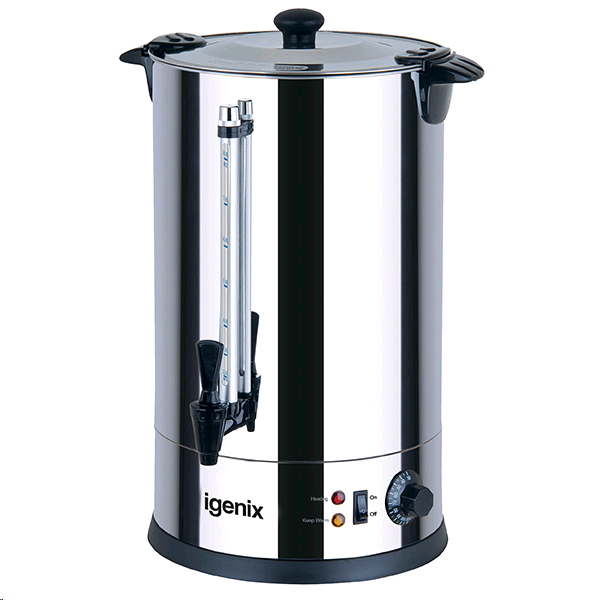 Igenix Stainless Catering Urn 15ltrs 1650watts