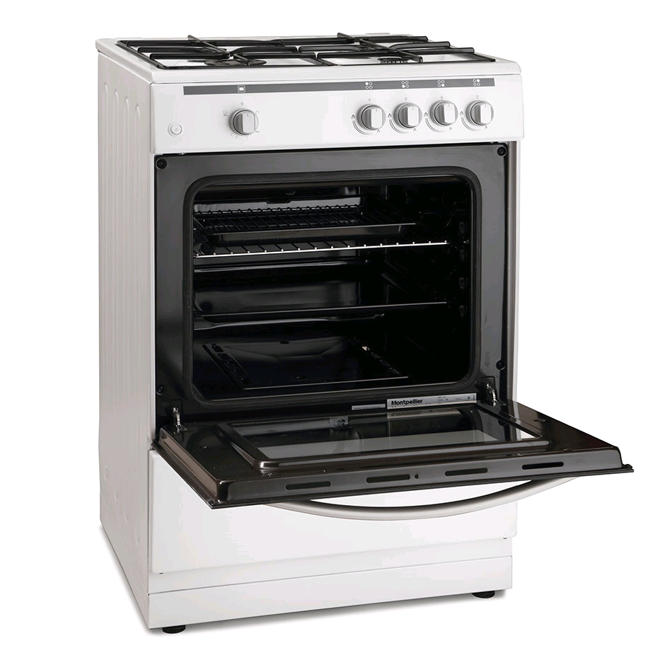 Montpellier 60cm Gas Single Cavity Cooker White