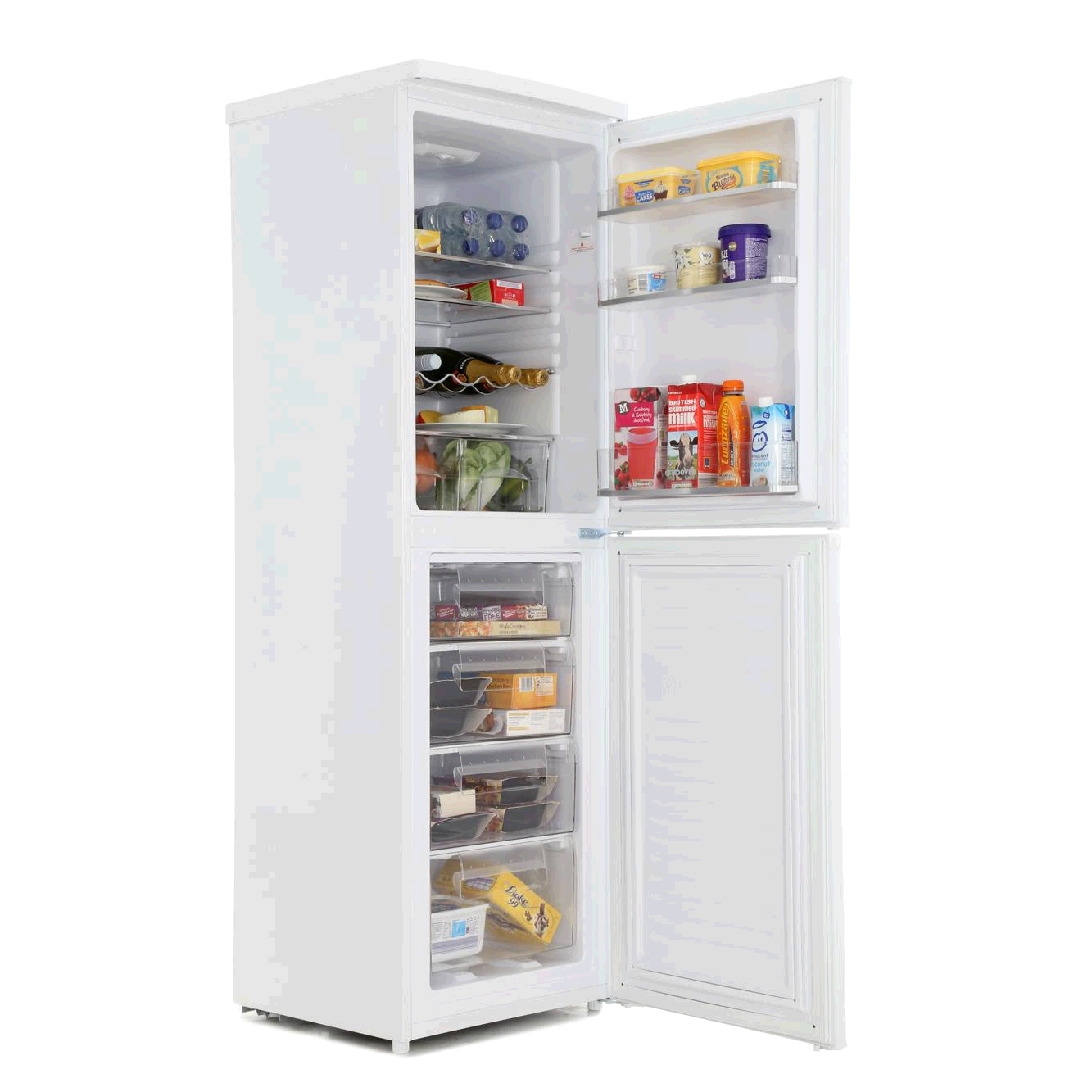Hoover HSC574W H 175cm 55 wide 4 drawer Freezer White A+ Manual Defrost 140/110Litre