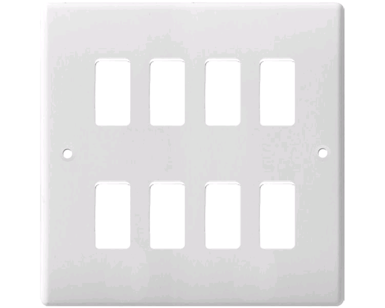 BG Grid Plate 8Way White
