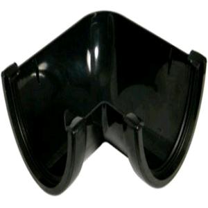 Floplast Hi-Cap 90deg Angle Black Guttering RAH1
