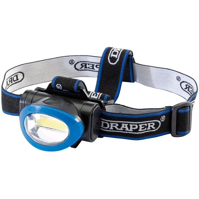 Draper COB LED Head Lamp Lamp (3W) (3 x AAA batteries)