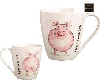 Price & Kensington Back to Front Pig Mug