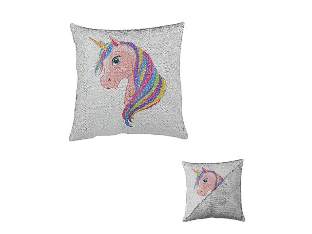 JOE DAVIES LP42361 Magical Unicorn Sequined Cushion