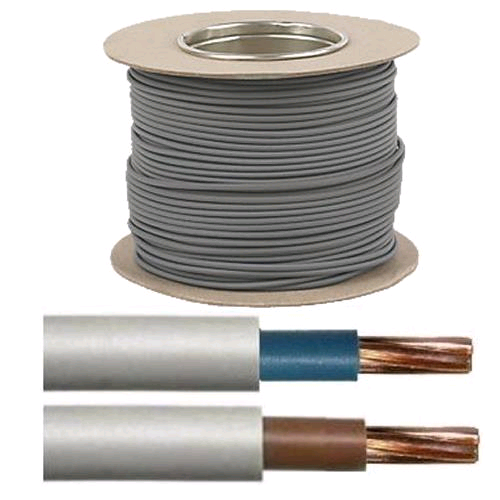 Cable 16mm Brown Tails PVC/PVC (50mtr Coil)