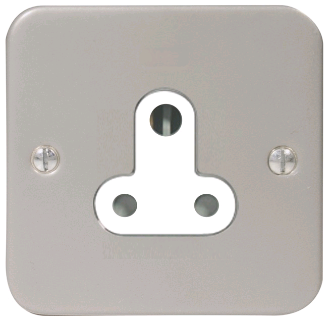 BG Metal Clad 5amp Unswitched Single Socket
