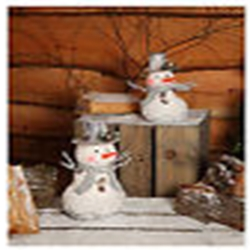 NOMA 4515208 UN LIT MEDIUM SNOWMAN WITH TWIG ARMS & TOP HAT 19CM X 12CM X 26CM