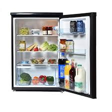 Statesman Larder Fridge Black 55cm wide  133Litre H845 W553 D574cm 2Year Warranty