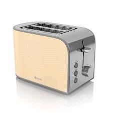 Swan 2 Slice Retro Toaster - Cream