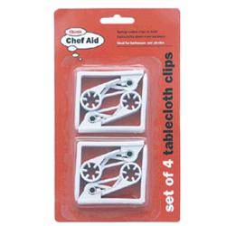 CHEFAID 682014 Table cloth clips 4 piece