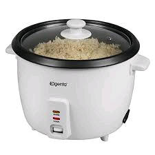 Elgento 1.5Litr Rice Cooker Non Stickand Glass Lid