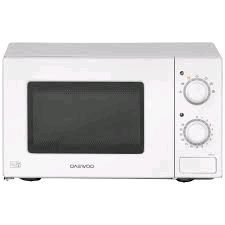 Daewoo White Microwave 700w Basic Manual Turn Dial 20Ltr