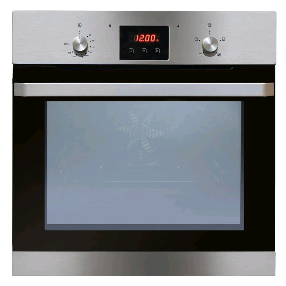 CDA Built In Single Electric Oven 62Ltr 4 function fan oven clock/timer